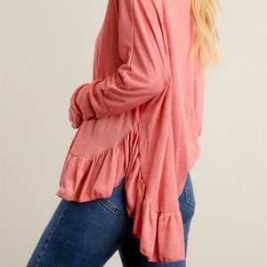 6 AVAILABLE!!!! Ruffled mauve colored blouse
